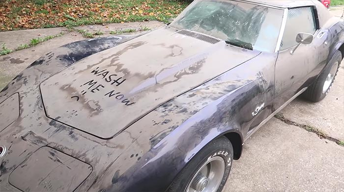 [VIDEO] Barn Find 1974 Corvette Receives First Car Wash in Over 15 Years