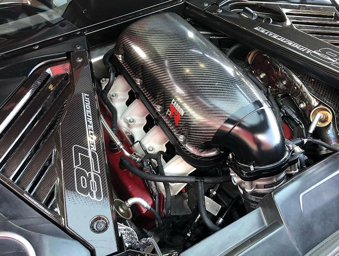 Lingenfelter Testing a Carbon PTR Intake Manifold on the C8 Corvette