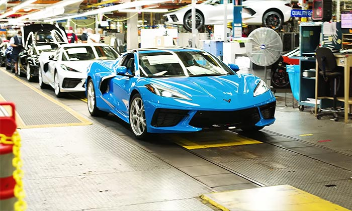 Corvette Assembly Plant Resumes Operations After Last Week's Shutdown