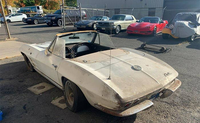 Corvettes on eBay: Barn Find 1963 Corvette Convertible