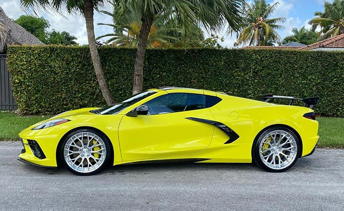[PICS] This Accelerate Yellow 2020 Corvette Shines With Signature Performance Wheels