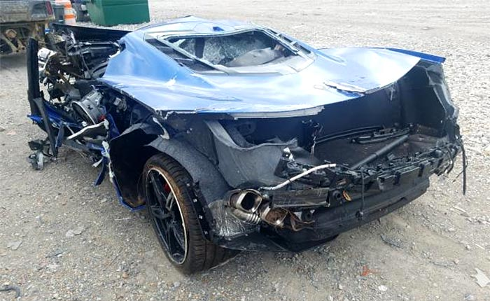[ACCIDENT] Heavily Damaged 2020 Corvette For Sale on Copart Auction Website