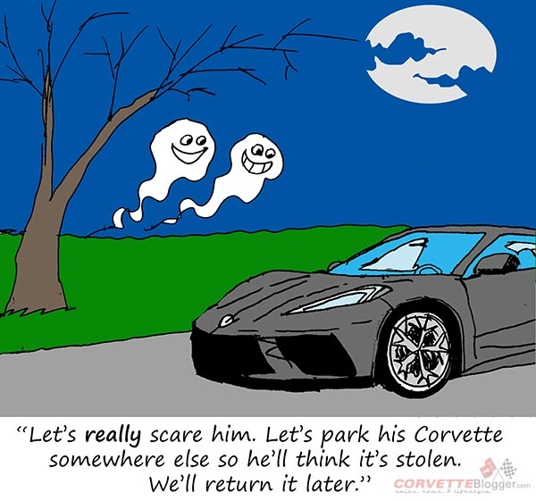 Saturday Morning Corvette Comic: These Are Not Friendly Ghosts