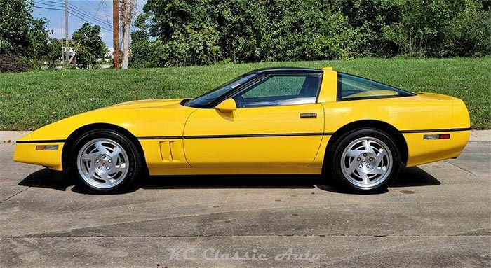 Corvettes for Sale: 160-mile Competition Yellow 1990 ZR-1