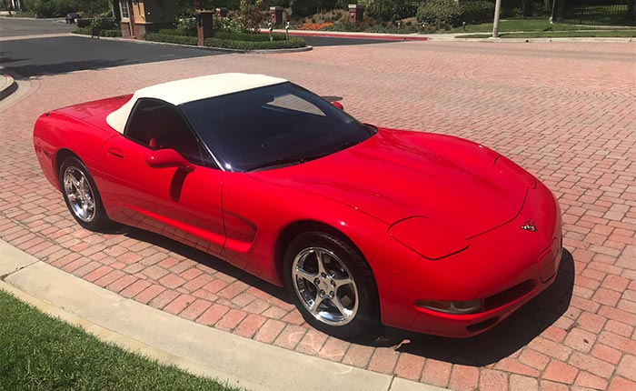 Corvettes For Sale: This 2000 Red/Red Corvette Convertible is One Clean Machine