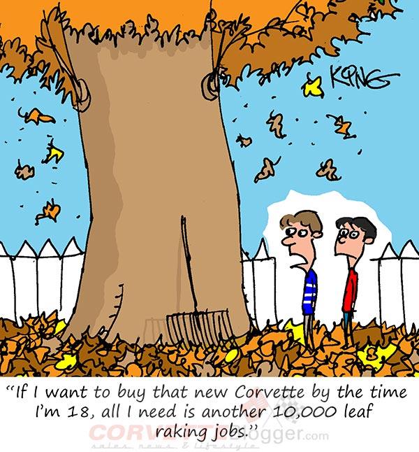 Saturday Morning Corvette Comic: Saving Up to Buy a Corvette