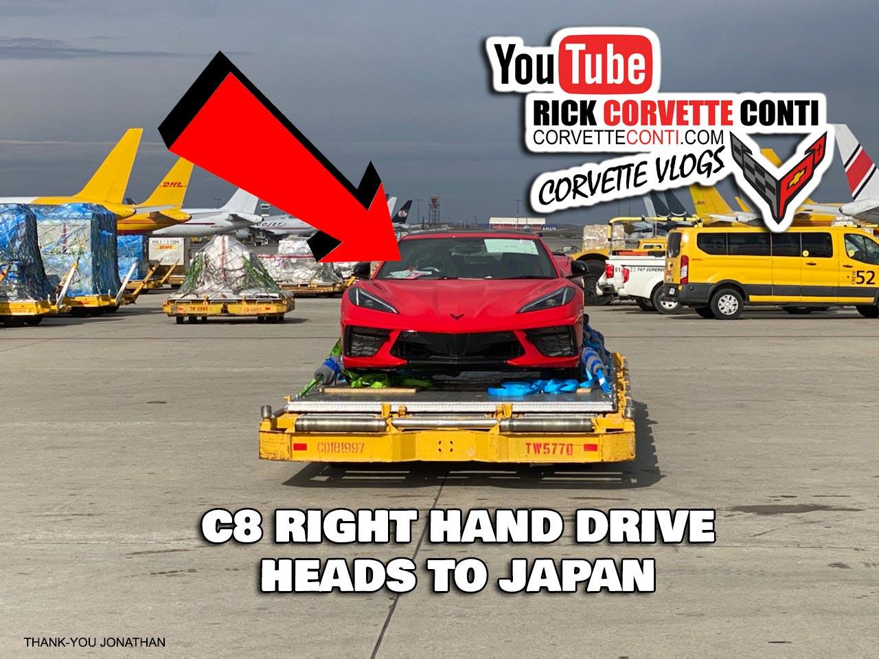 First Pics of the RHD C8 Corvette Stingray
