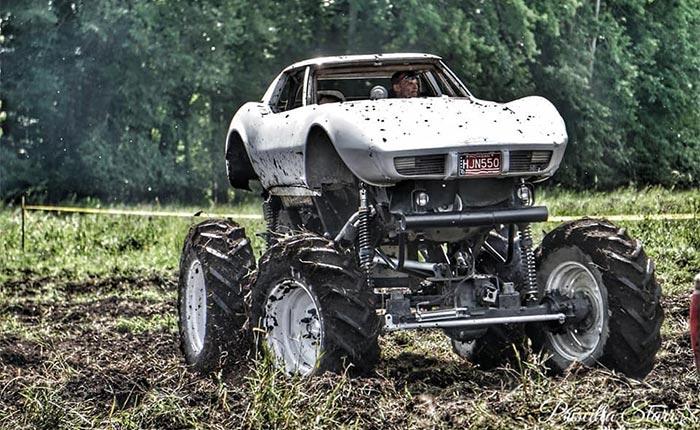 Found on Facebook: Let's Go Muddin' in this 1976 Corvette 4x4