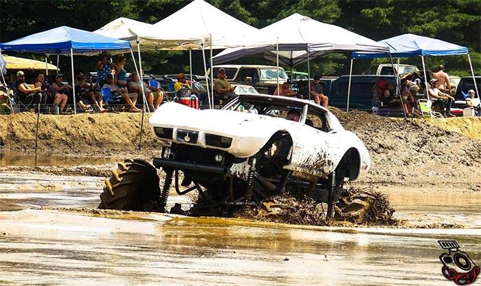Corvettes on Facebook: Let's go Muddin' in this 1976 Corvette 4x4