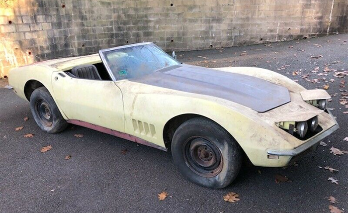 Corvettes on eBay: Safari Yellow 1968 Corvette Barn Find