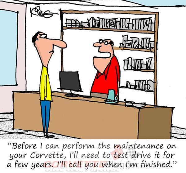 Saturday Morning Corvette Comic: