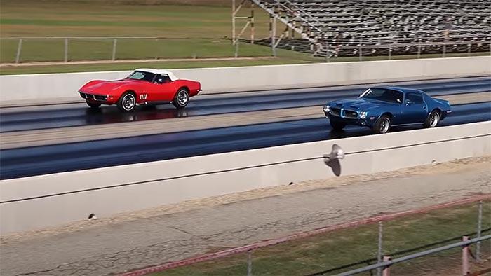 [VIDEO] 1969 Corvette 427 vs 1973 Pontiac Firebird in Drag Race