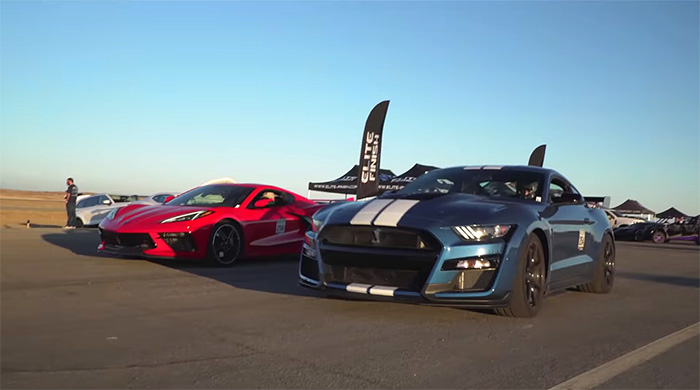 [VIDEO] 2020 Corvette Z51 Coupe Outruns 2020 Ford Shelby GT500 in 1/2 Mile Event