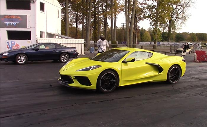 [VIDEO] Accelerate Yellow 2020 Corvette Z51 Coupe Goes to Work at the Drag Strip