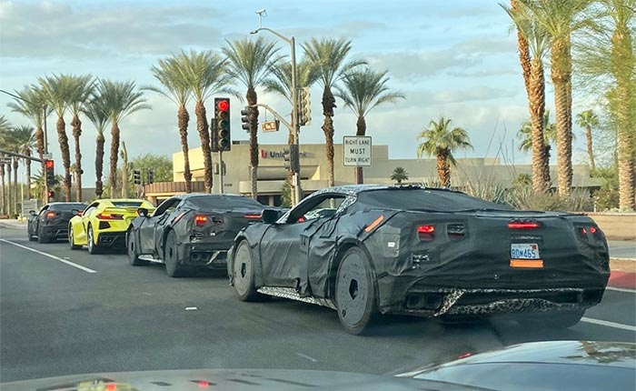 New Extended Video Shows C8 Corvette Prototypes Driving through Mountains and City Streets