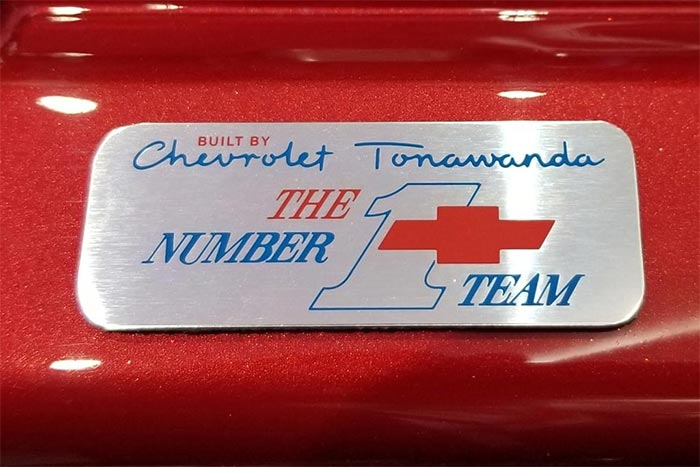 [PICS] Tonawanda #1 Team Badges Coming to the C8 Corvette for 2021