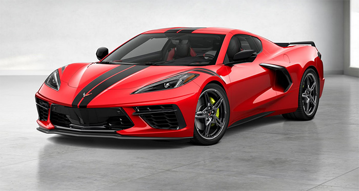 The First 2021 Corvette Is A Customer-Ordered Torch Red Stingray Z51 Coupe