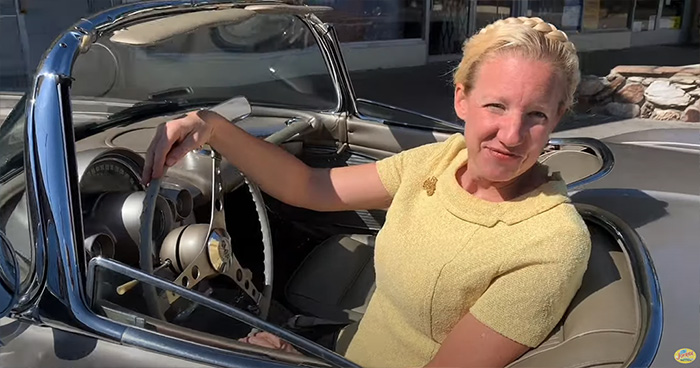 [VIDEO] Charles Phoenix Takes a Joyride with Patty in Her 1961 Corvette