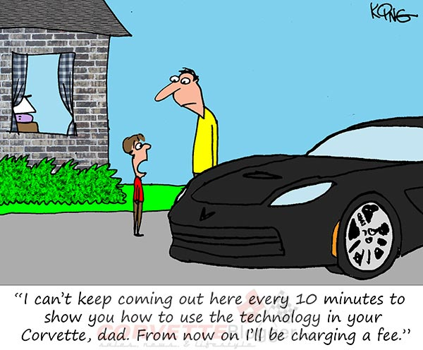 Saturday Morning Corvette Comic: Are Corvettes Becoming Too Advanced for their Owners?