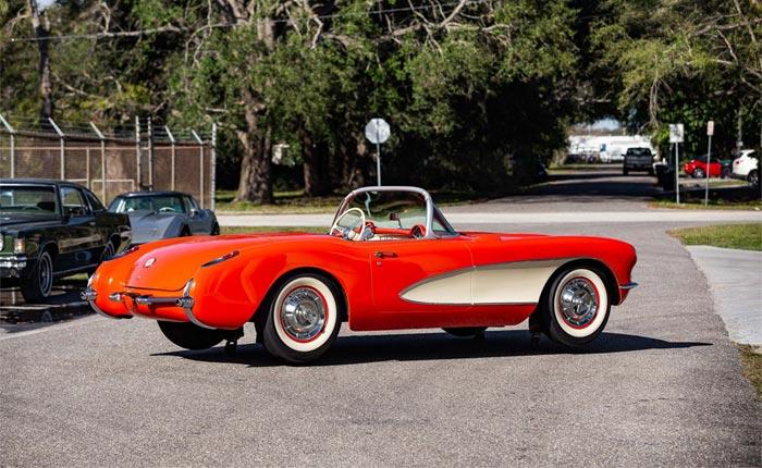 Corvettes for Sale: Full Scale 1957 Corvette Display Model on Casters