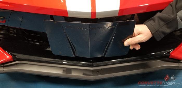 C8 Corvette Front License Plate Install