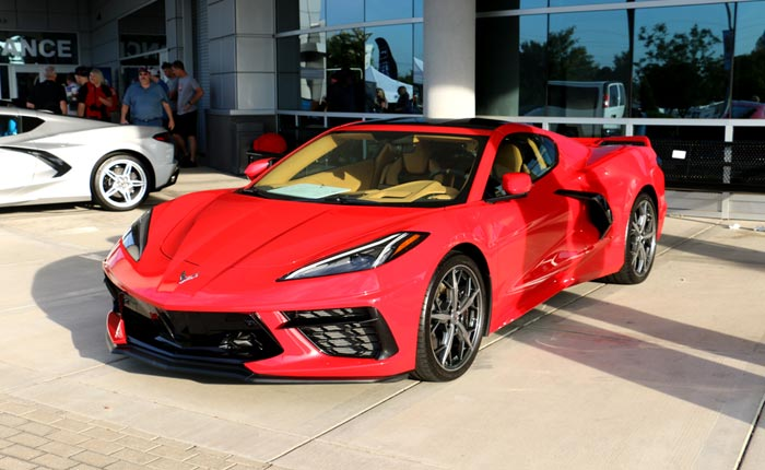 Torch Red, Arctic White and Elkhart Lake Blue Lead the Color Choices Based on Kerbeck's C8 Corvette Orders