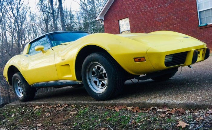 Corvettes on Craigslist: 1978 Yellow Corvette Project for $2,450