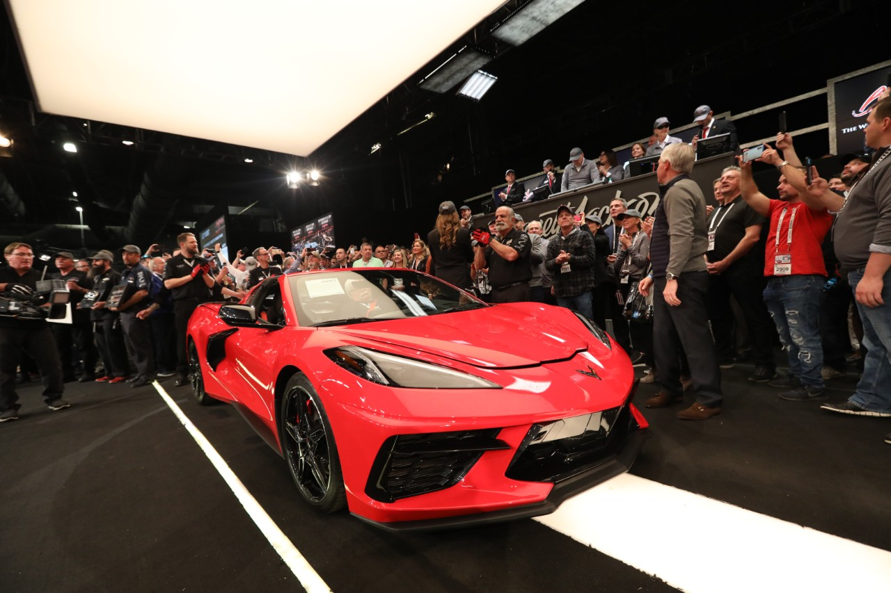 [VIDEO] 2020 Corvette Stingray VIN 001 Sells for $3 Million at Barrett-Jackson