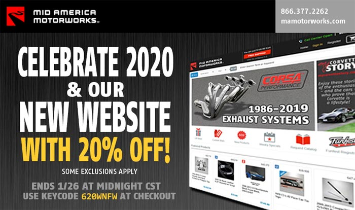 Visit Mid America Motorworks' New Website and Save 20% Sitewide!