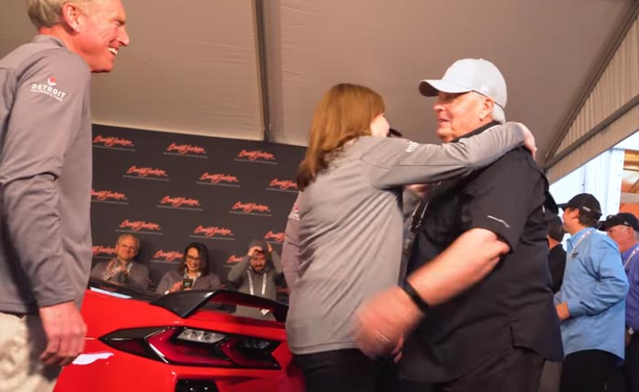 Rick Hendrick with Mary Barra and Tadge Juechter