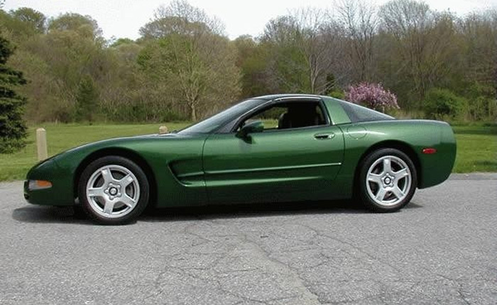 1997 Corvette in Fairway Green