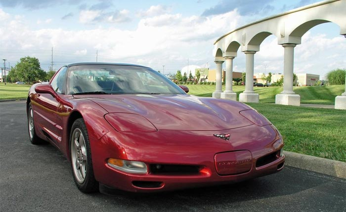 C5 Corvette in Carmine Red