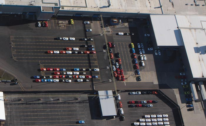 [PICS] New Aerial Photos of Corvette Assembly Plant Show A Whole Lot of C8 Corvettes Out Back!