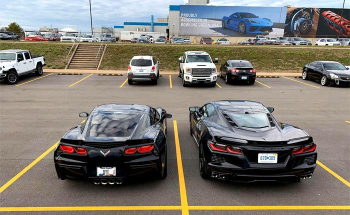 [GALLERY] Black C7 and C8 Corvettes Together at the Corvette Assembly Plant