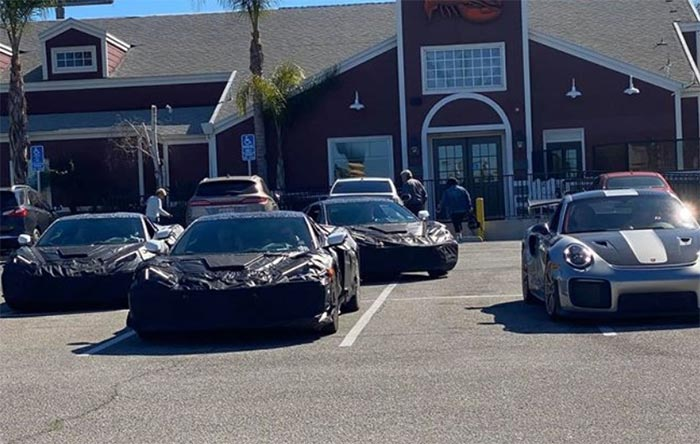 [SPIED] C8 Corvette Z06 Prototypes Testing Alongside a Porsche GT2 RS in California