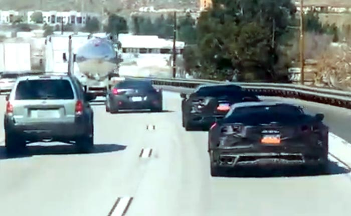 [SPIED] Those Three C8 Corvette Z06 Prototypes Were Caught Merging onto I5 in Valencia