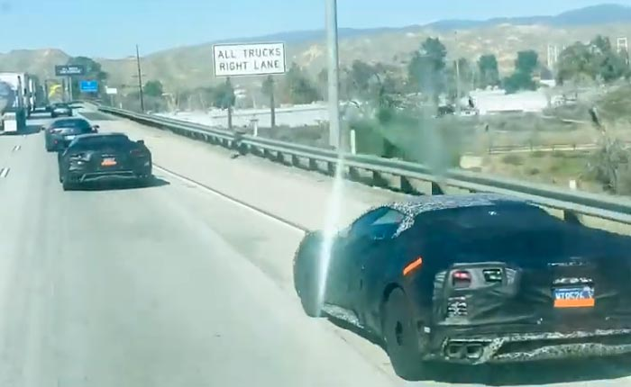 Corvete Z06 Prototypes Spied in California