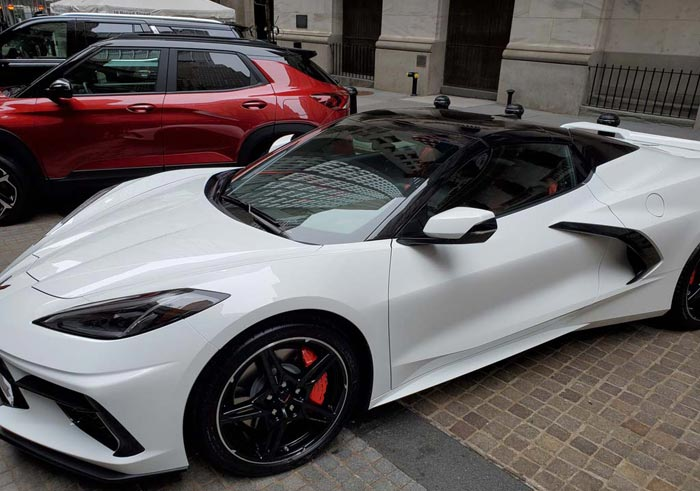 [PICS] 2020 Corvette Stingray Convertible On Display in Front of New York Stock Exchange