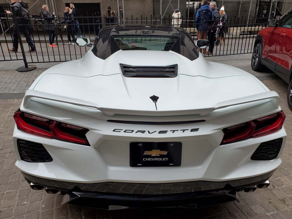 2020 Corvette Stingray Convertible On Display in Front of New York Stock Exchange