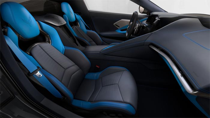 2020 Corvette's Two-Tone Blue Interior and GT2 Seats