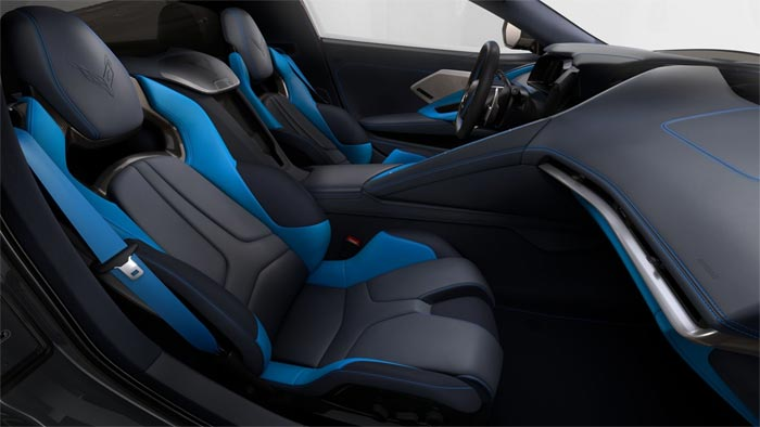 [PICS] 2020 Corvette's Two-Tone Blue Interior Now Has Two Different Headrest Colors