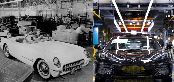 First 1953 Corvette vs First 2020 Corvette