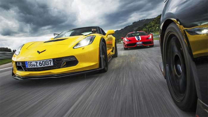 C7 Z06 and Ferrari 458 Speciale