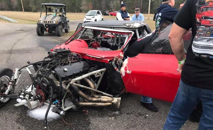 [ACCIDENT] 1964 Corvette Drag Car Crashes and Rolls at 158 MPH