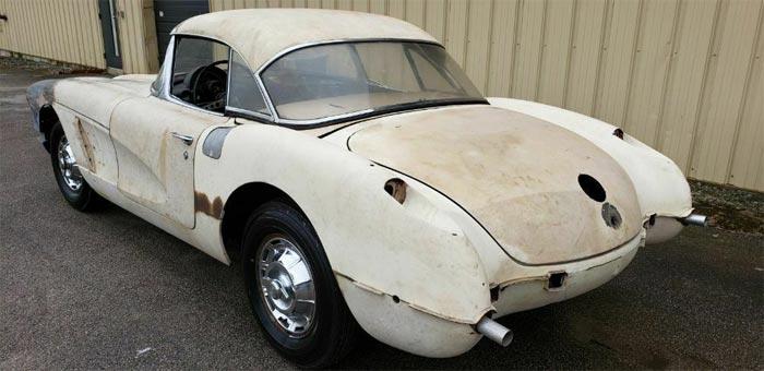 Corvettes on eBay: 1960 Corvette with Rare Power Convertible Top