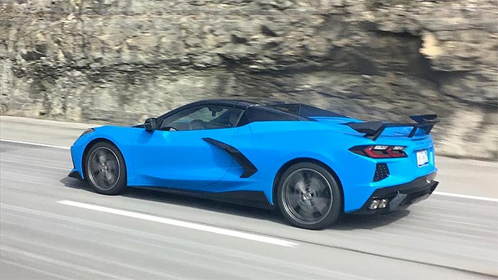 [SPIED] 2020 Corvette Stingray Convertible with High Wing and Ground Effects Package
