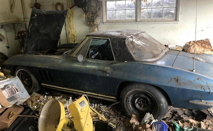 Corvettes for Sale: Barn Find 1965 Corvette Fuelie Buried Under a Mountain of Trash is Rescued