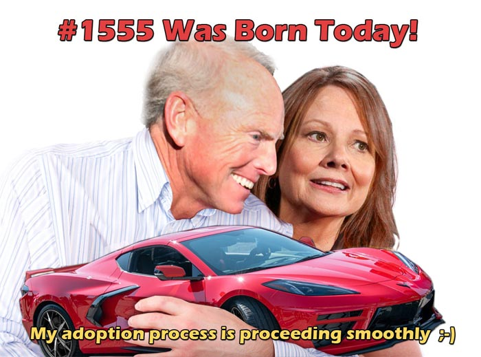 [PIC] Corvette Owner Shares Hilarious 2020 Corvette Adoption Photo