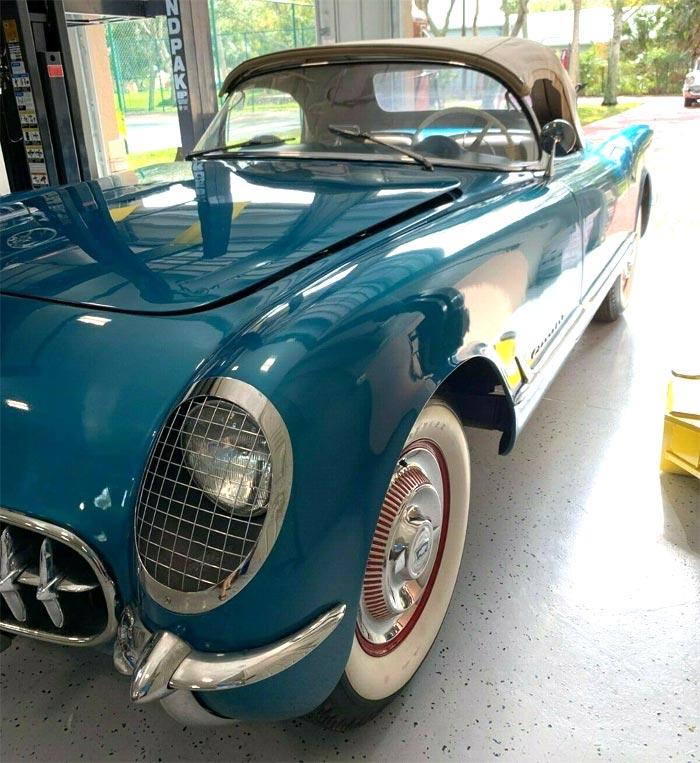 Corvettes on eBay: 1954 Corvette in Pennant Blue