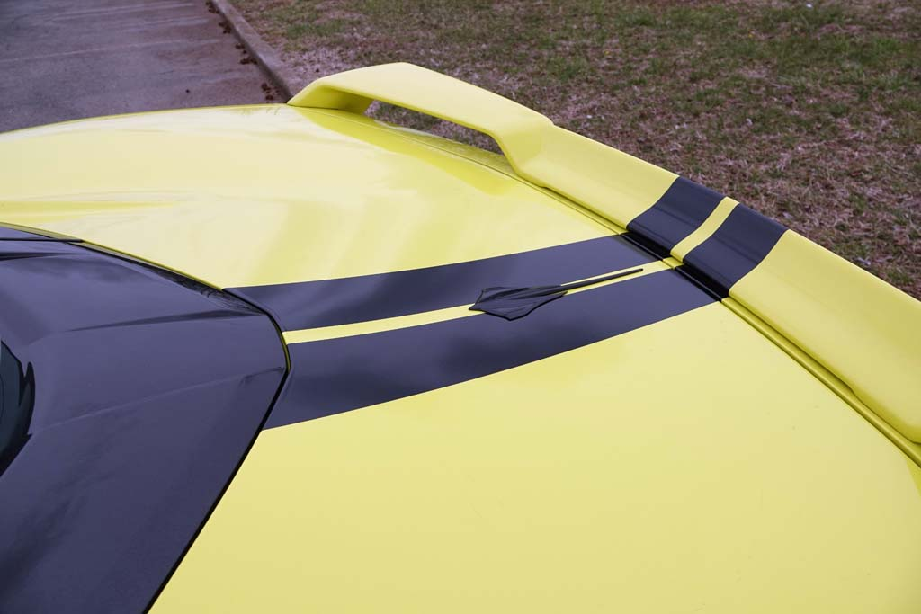 2020 Corvette Stingray Coupe in Accelerate Yellow with Black Stripes